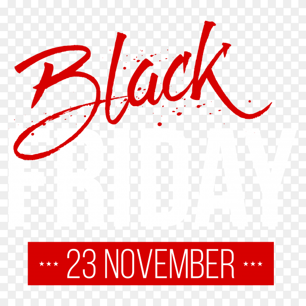 Black friday poster on transparent background PNG