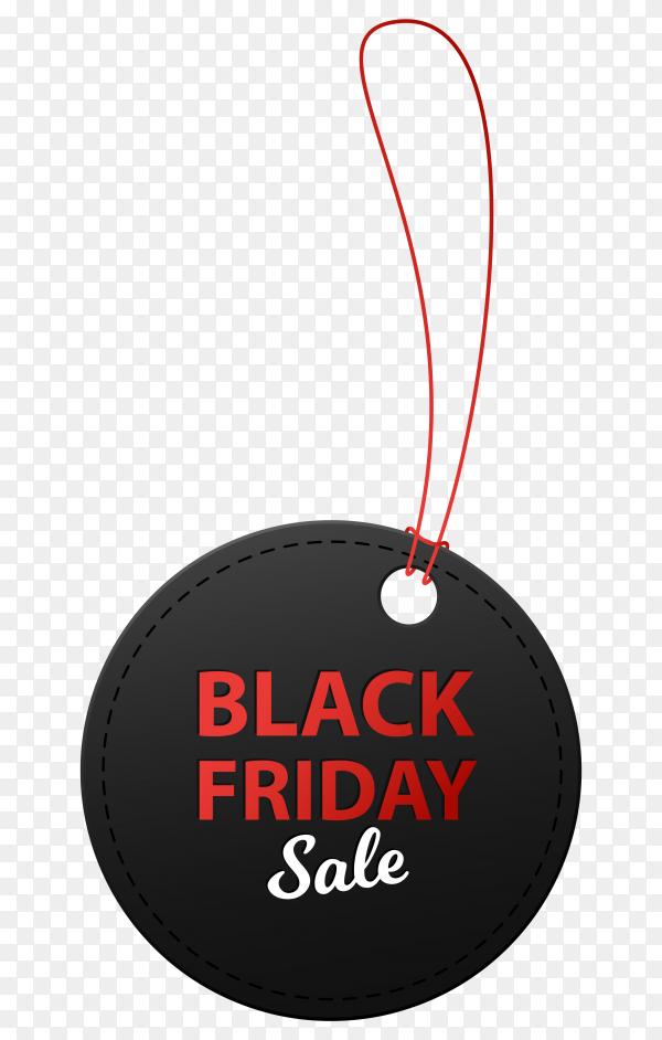 Black friday sale illustration banner on transparent background PNG