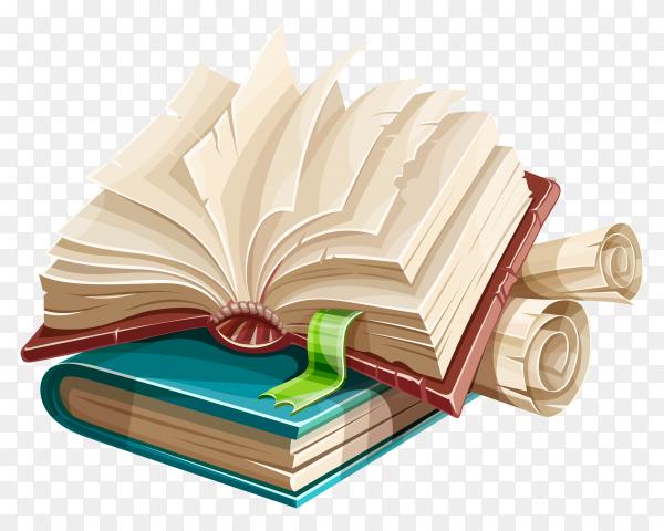 Books illustration on transparent background PNG