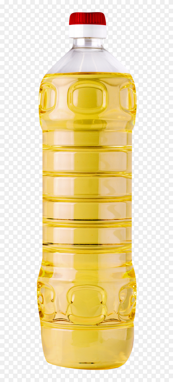 Bottle sunflower oil isolated on transparent background PNG