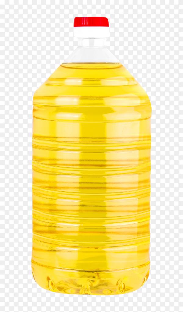 Bottle sunflower oil on transparent background PNG