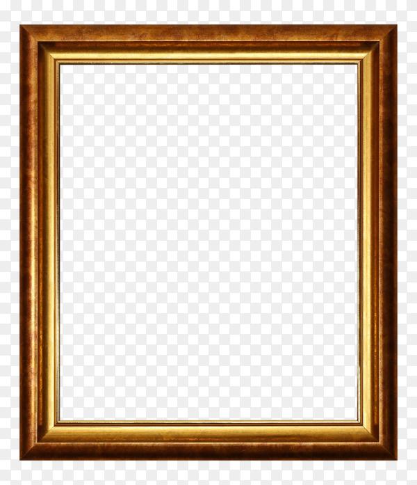 Bronze and golden frame on transparent background PNG