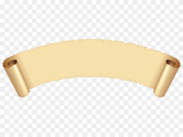 Brown curved textile banner Illustration on transparent background PNG