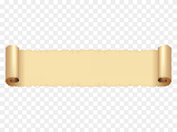 Brown curved textile banner on transparent background PNG