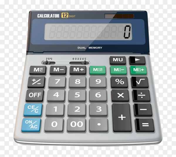 Calculator isolated premium vector PNG