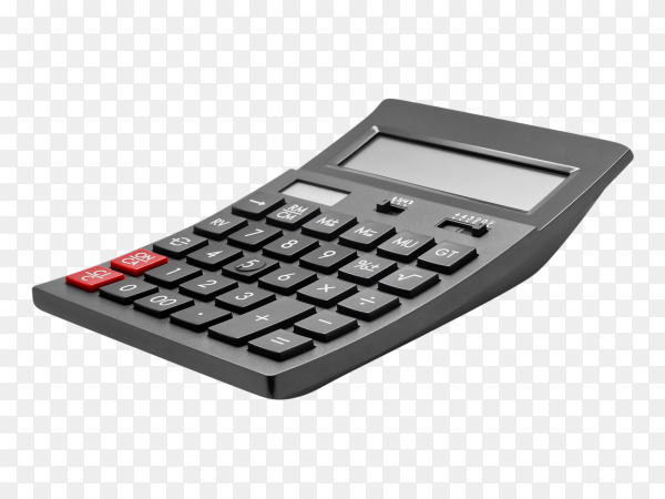Calculator on transparent background PNG