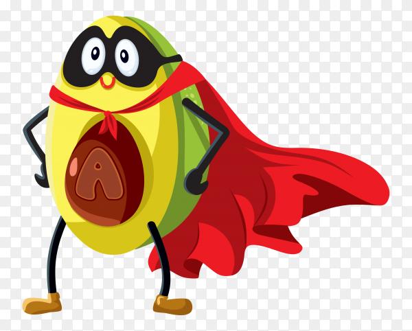 Cartoon avocado design on transparent background PNG