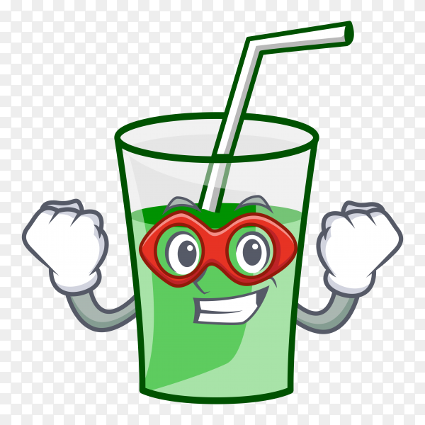 Cartoon juice cup on transparent background PNG
