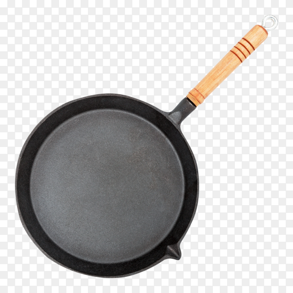Cast iron pan on transparent background PNG
