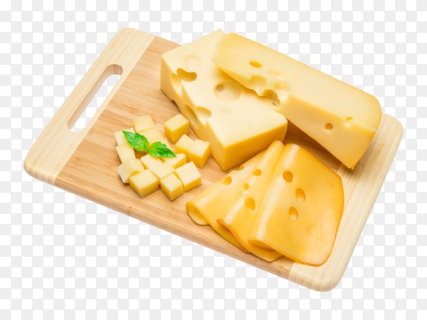 Cheddar cheese on transparent background PNG