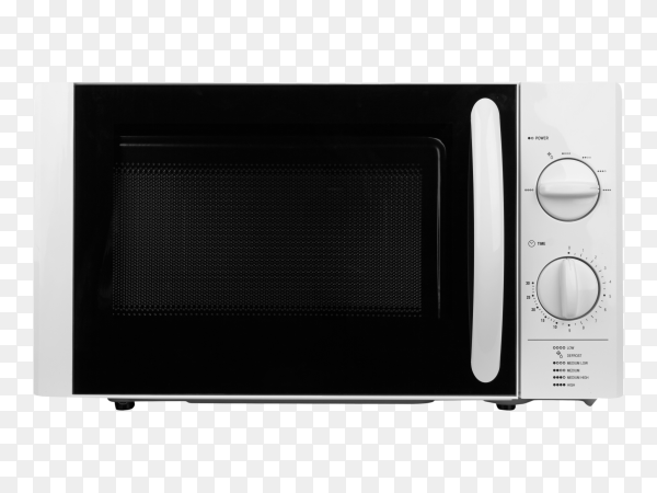 Closed microwave oven on transparent background PNG