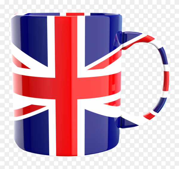 Coffe cup with Flag on transparent background PNG