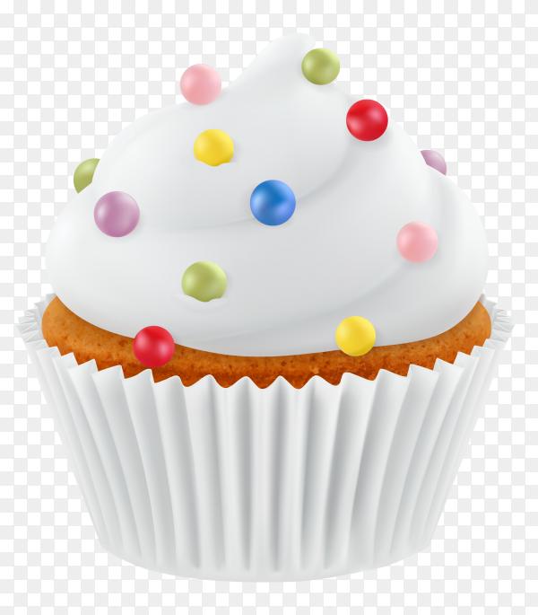 Delicious cupcake premium vector PNG