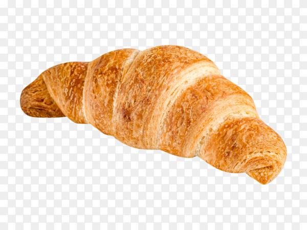 Delicious fresh croissant on transparent background PNG