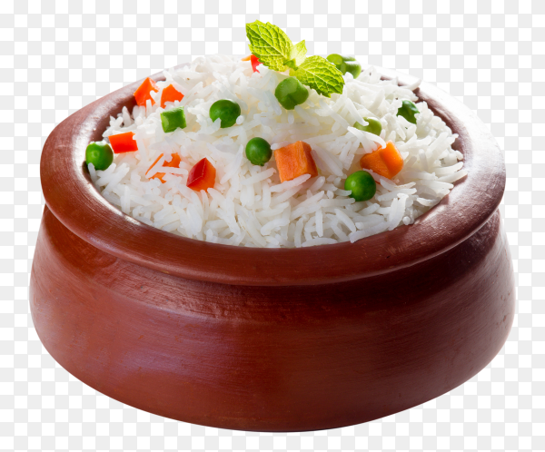 Delicious rice on transparent background PNG