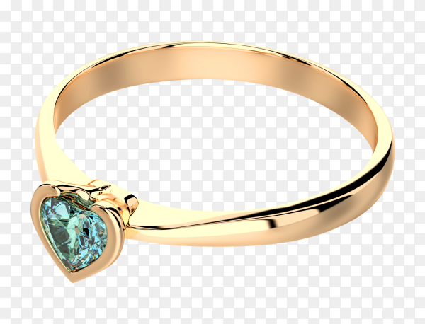 Diamond ring isolated on transparent background PNG