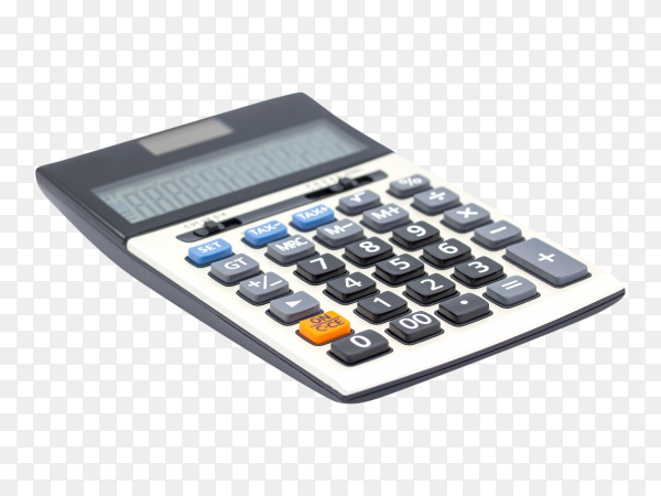 Digital calculator on transparent background PNG