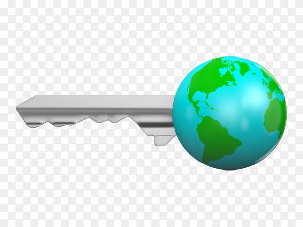 Earth key Illustration on transparent background PNG