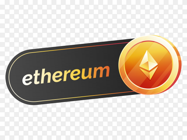 Ethereum icon design on transparent background PNG
