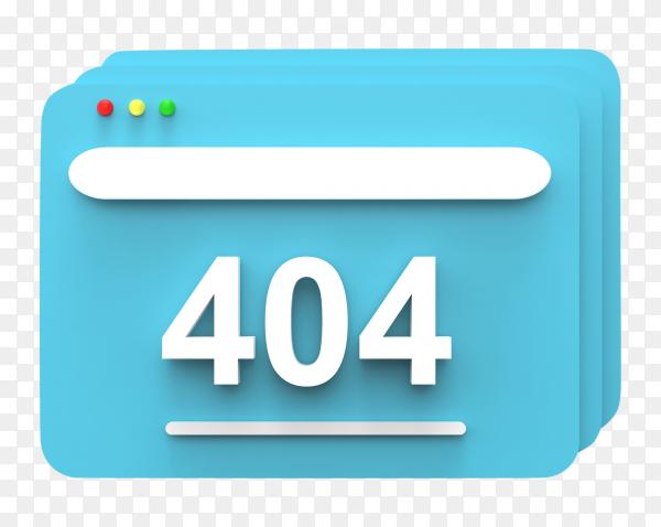Find error message rendered illustration on transparent background PNG