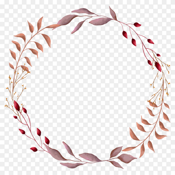 Frame with Leaves and branches on transparent background PNG