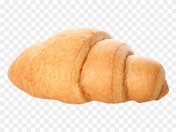 Freshly baked croissant on transparent background PNG