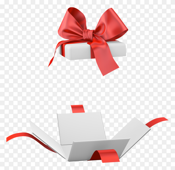 Gift box on transparent background PNG
