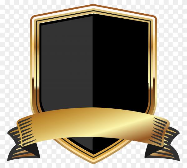 Golden empty badge labels element Illustration on transparent background PNG