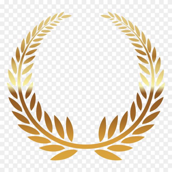 Golden wreath illustration on transparent background PNG