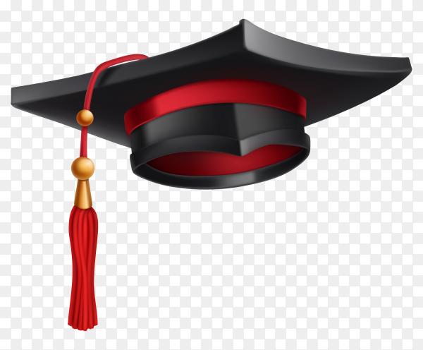 Graduation cap on transparent background PNG