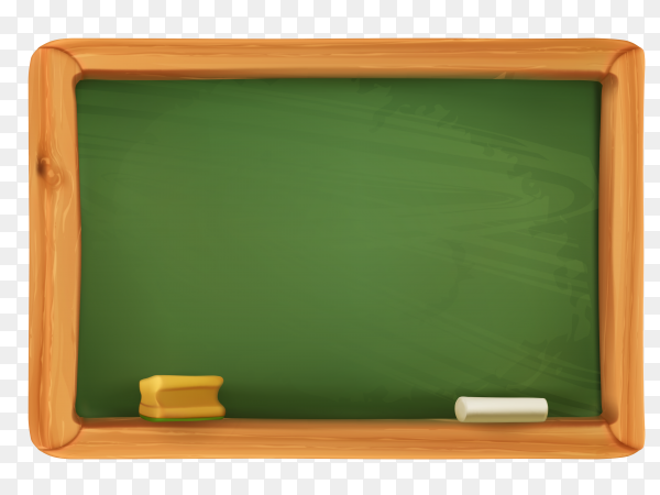Green board school on transparent background PNG