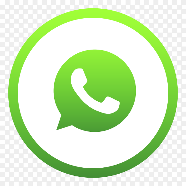 Green wahtsapp logo on transparent background PNG