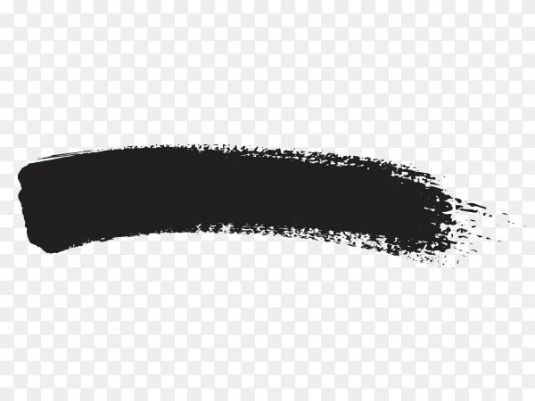 Grunge brush stroke on transparent background PNG