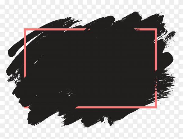 Grunge frame design on transparent background PNG