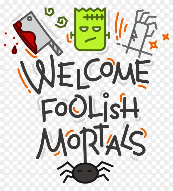 Halloween design poster on transparent PNG
