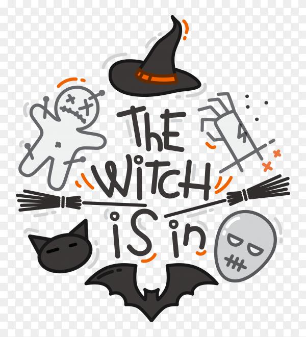 Halloween flat design color on transparent background PNG