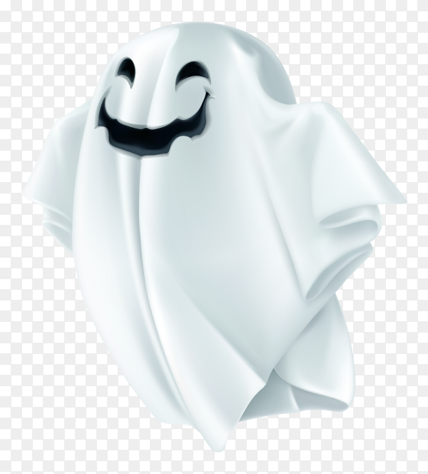 Halloween ghost character on transparent background PNG