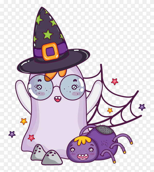 Halloween ghost on transparent background PNG