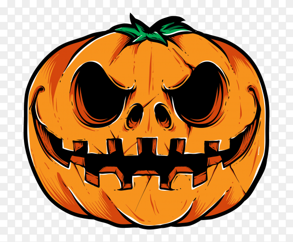 Halloween october pumpkin set with face emotion on transparent backgrounnd PNG