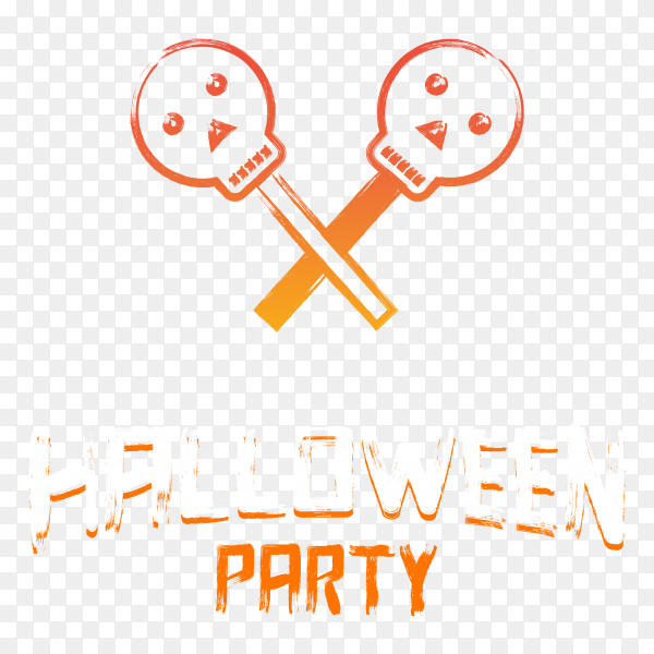 Halloween party poster design on transparent background PNG