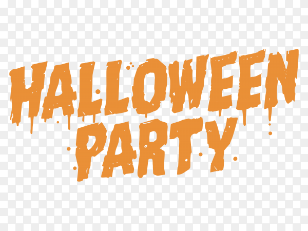 Halloween party poster on transparent background PNG