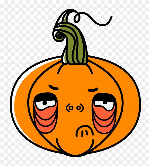 Halloween pumpkin design on transparent PNG