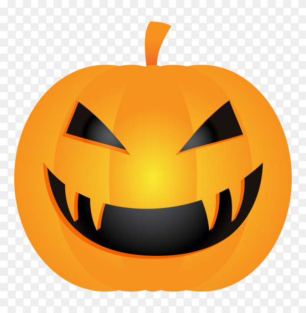 Halloween pumpkin head on transparent background PNG