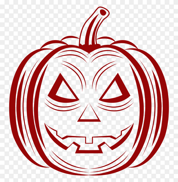 Halloween pumpkin illustration on transparent background PNG