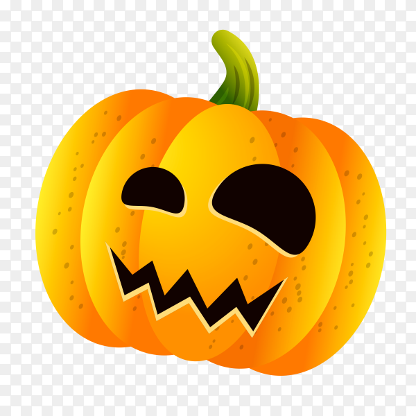 Halloween pumpkin set with face emotion on transparent background PNG