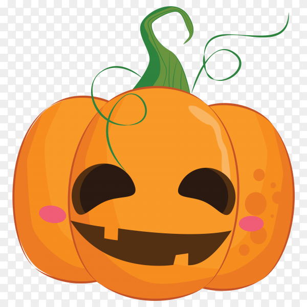 Halloween pumpkin with Smile face on transparent background PNG