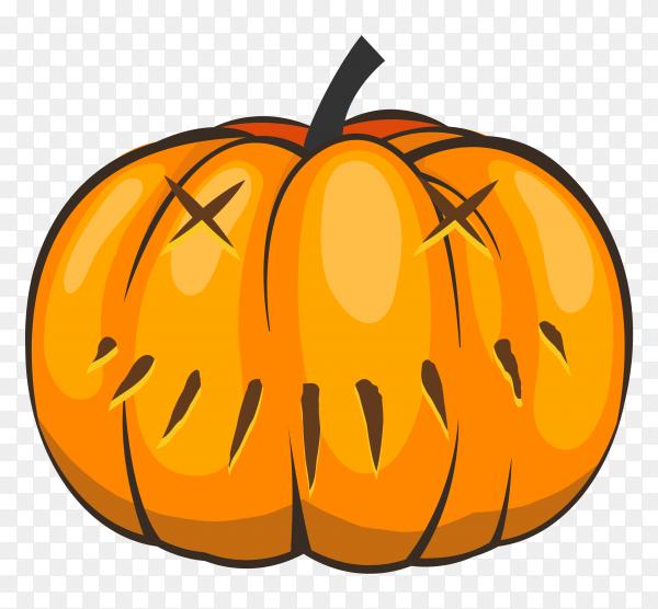 Halloween pumpkins cartoon on transparent PNG