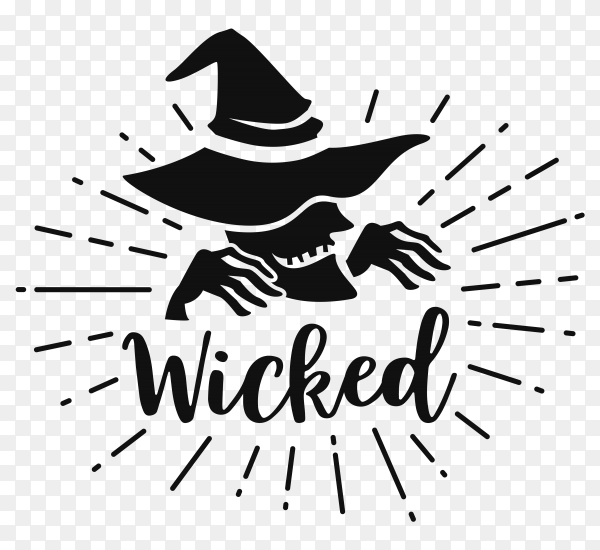 Hand drawn Witch frame on transparent background PNG