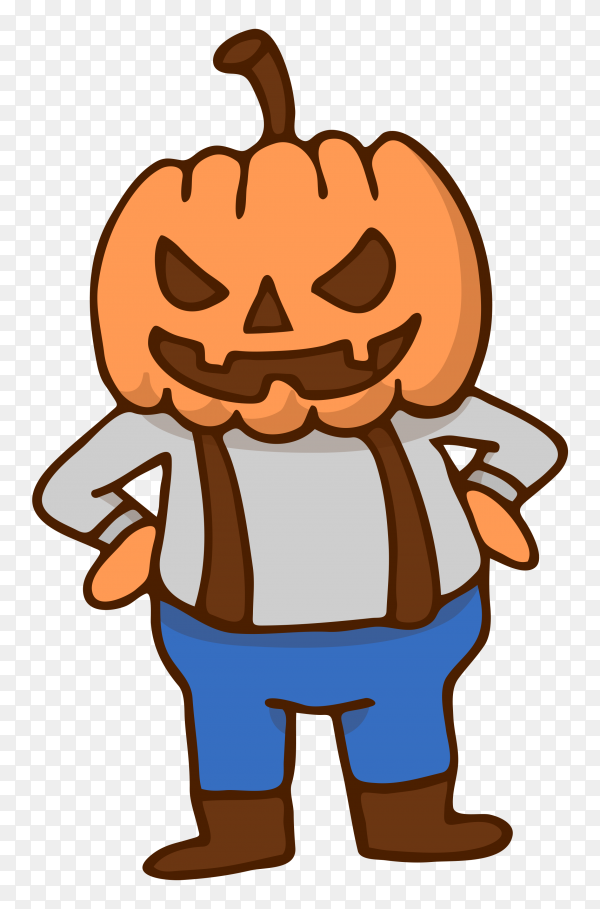 Hand drawn halloween character on transparent background PNG