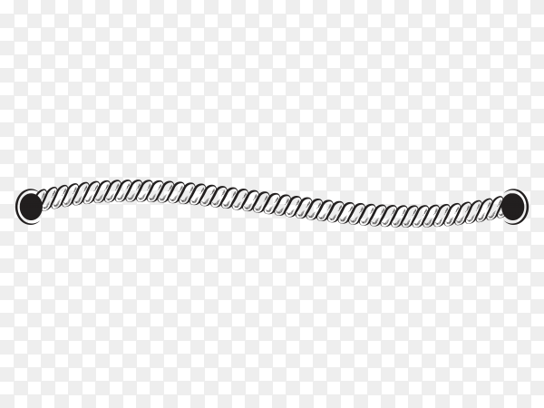 Hand drawn rope on transparent background PNG